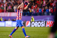 Atletico de Madrid's player Diego Godín celebrating the victory during a match of UEFA Champions League at Vicente Calderon Stadium in Madrid. November 01, Spain. 2016. (ALTERPHOTOS/BorjaB.Hojas)