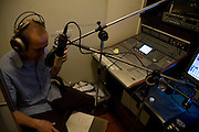 Chris Dukes records the voiceover