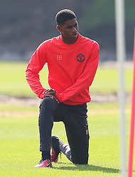 Marcus Rashford of Manchester United  - Mandatory by-line: Matt McNulty/JMP - 14/09/2016 - FOOTBALL - Manchester United - Training session ahead of Europa League Group A match against Feyenoord