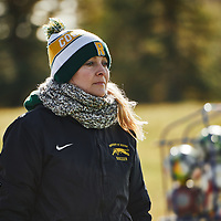 Women's Soccer Assistant Coach, Astrid Baecker of the Regina Cougarsduring the Women's Soccer home game on Sun Oct 14 at U of R Field. Credit: Arthur Ward/Arthur Images