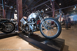 Joel Pippett's 1952 BSA model B-31/B-33 called the Wolf on Saturday in the Handbuilt Motorcycle Show. Austin, TX, USA. April 9, 2016.  Photography ©2016 Michael Lichter.