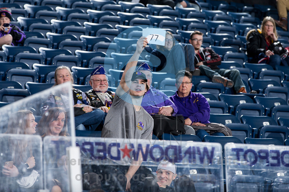 The Youngstown Phantoms defeat the Cedar Rapids RoughRiders 3-1 at the Covelli Centre on March 7, 2020.<br /> <br /> Aiden Gallacher, defenseman, 2