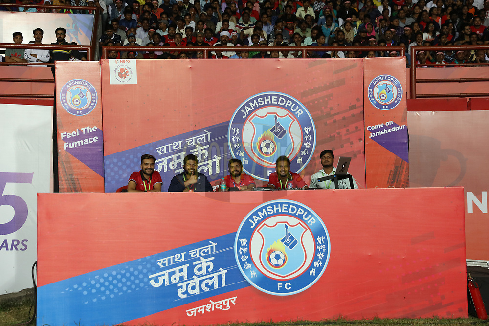 Announcement stage during match 25 of the Hero Indian Super League 2018 ( ISL ) between Jamshedpur FC and FC Goa held at JRD Tata Sports Complex, Jamshedpur, India on the 1st November  2018<br /> <br /> Photo by Saikat Das /SPORTZPICS for ISL