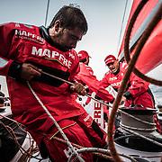 Leg Zero, Prologue, day 3 on-board MAPFRE. Photo by Jen Edney/MAPFRE/Volvo Ocean Race. 10 October, 2017. Etapa prologo, dia 3 a bordo MAPFRE. 10 octubre, 2017.