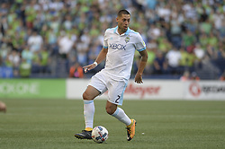 August 27, 2017 - Seattle, Washington, U.S - Soccer 2017: Seattle Sounders forward CLINT DEMPSEY (2) in action as the Portland Timbers visit the Seattle  for an MLS match at Century Link Field in Seattle, WA. (Credit Image: © Jeff Halstead via ZUMA Wire)