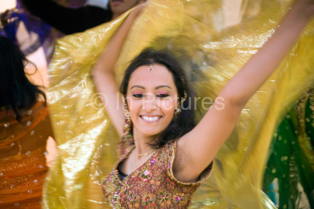 Dancer Ashwini Iyer, 23 practices her routine at a rehearsal of the production of The Merchants of Bollywood in a studio in Mumbai, India<br /> <br /> The Merchants of Bollywood, An Indian theatrical dance musical, charts the history of the world's largest and most prolific film industry, and is loosely based on the showbusiness, Merchant family. Seen by over two million people worldwide, the show is homage to the world of Indian cinema.