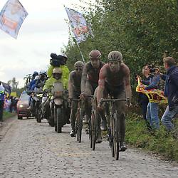 ROUBAIX (FRA): CYCLING: October 3th<br /> Paris-Roubaix men<br /> Group on the Cobbles