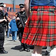 Scotland v England 2018 FIFA World Cup Qualifier Hampden Park, Glasgow UK. Police security surrounding the stadium.<br /> 10th June 2017
