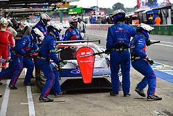 June 16, 2018 - Le Mans, FRANCE - 68 FORD CHIP GANASSI TEAM USA (USA) FORD GT GTE PRO JOEY HAND (USA) DIRK MUELLER (DEU) SEBASTIEN BOURDAIS  (Credit Image: © Panoramic via ZUMA Press)