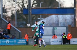Ryan Taylor of Plymouth Argyle and Tom Eastman of Colchester United tussle for the ball - Mandatory by-line: Arron Gent/JMP - 08/02/2020 - FOOTBALL - JobServe Community Stadium - Colchester, England - Colchester United v Plymouth Argyle - Sky Bet League Two