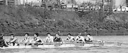 Chiswick. London.<br /> Eights starting from Mortlake, Thames RC, Stroke Miles FORBES THOMAS,<br /> <br /> 1987 Head of the River Race over the reversed Championship Course Mortlake to Putney on the River Thames. Saturday 28.03.1987. <br /> <br /> [Mandatory Credit: Peter SPURRIER;Intersport images] 1987 Head of the River Race, London. UK