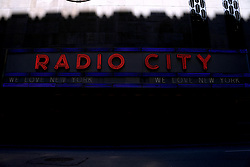 Radio City Music Hall atmosphere during the Covid-19 pandemic in New York City, NY, USA on April 22, 2020. The Big Apple neared a painful milestone Wednesday as the death toll from the coronavirus outbreak that has ravaged the five boroughs approached 15,000. The pandemic has claimed the lives of 14,996 New Yorkers, with new 569 fatalities reported in the most recent 24-hour period, according to data from the city's Department of Health. Photo by Charles Guerin/ABACAPRESS.COM