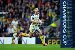 Nick Abendanon of Clermont Auvergne runs in a try - Photo mandatory by-line: Patrick Khachfe/JMP - Mobile: 07966 386802 02/05/2015 - SPORT - RUGBY UNION - London - Twickenham Stadium - ASM Clermont Auvergne v RC Toulon - European Rugby Champions Cup Final