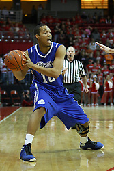 12 January 2013:  Jeremy Jeffers during an NCAA Missouri Valley Conference mens basketball game Where the Bulldogs of Drake University beat the Illinois State Redbirds 82-77 in Redbird Arena, Normal IL