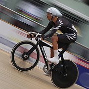 Wes Gough, New Zealand, in action during the Men Omnium, Flying Lap during the 2012 Oceania WHK Track Cycling Championships, Invercargill, New Zealand. 21st November 2011. Photo Tim Clayton
