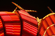 Close up image of neon marquee in Las Vegas