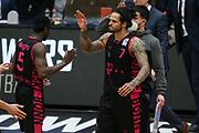 Basketball: Deutschland, 1. Bundesliga, Hamburg Towers -  Telekom Baskets Bonn, Hamburg, 12.02.2021<br /> Jubel von Chris Babb (Bonn)<br /> © Torsten Helmke
