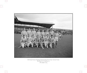 Neg No:.569/7823-7826...8081954AISHCSF1...08.08.1954...All Ireland Senior Hurling Championship - Semi-Final..Wexford.12-17.Antrim.2-3...Antrim Team