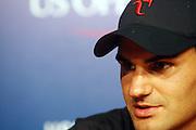 Roger Federer at The 2008 Arthur Ashe Kids' Day held at The USTA Bille Jean King National Tennis Center on August 23, 2008 in Flushing, NY