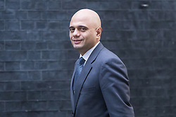 Downing Street, London, October 25th 2016. Communities and Local Government Secretary Sajid Javid arrives at 10 Downing Street for the weekly cabinet following a Heathrow Third Runway Sub-Committee meeting at the same venue.