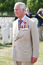 The Prince of Wales during a wreath laying ceremony at the Artillery Wood Cemetery in Ypres, Belgium, to mark the centenary of Passchendaele.
