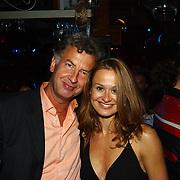 Miss Nederland 2003 reis Turkije, organisator Hans Konings en vriendin Mascha van der Meer