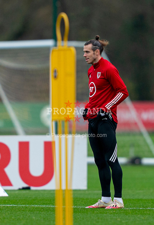 CARDIFF, WALES - Tuesday, November 17, 2020: Wales' captain Gareth Bale during a training session at the Vale Resort ahead of the UEFA Nations League Group Stage League B Group 4 match between Wales and Finland. (Pic by David Rawcliffe/Propaganda)