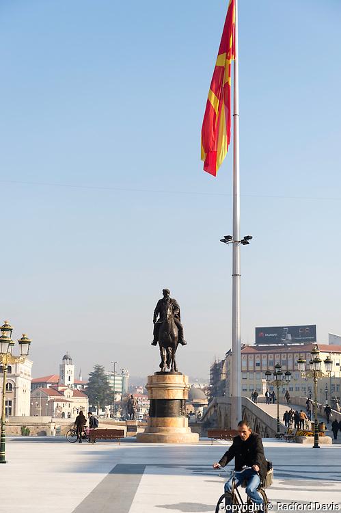 The central square of Skopje, Macedonia