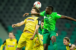 Rok Jazbec of Radomlje vs Blessing Eleke of NK Olimpija during football match between NK Olimpija Ljubljana and NK Kalcer Radomlje in Round #29 of Prva liga Telekom Slovenije 2016/17, on April 17, 2017 in SRC Stozice, Ljubljana, Slovenia. Photo by Vid Ponikvar / Sportida