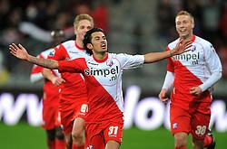 22-01-2012 VOETBAL: FC UTRECHT - PSV: UTRECHT<br /> Utrecht speelt gelijk tegen PSV 1-1 / Stefano Lilipaly scoort de 1-0 <br /> ©2012-FotoHoogendoorn.nl