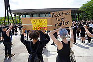 Hundreds of protesters turned out June 4, 2020, for a Black Lives Matter stand-in at Payrow Plaza near Bethlehem City Hall and the Bethlehem Area Public Library in Bethlehem, Pennsylvania. (Photo by Matt Smith)