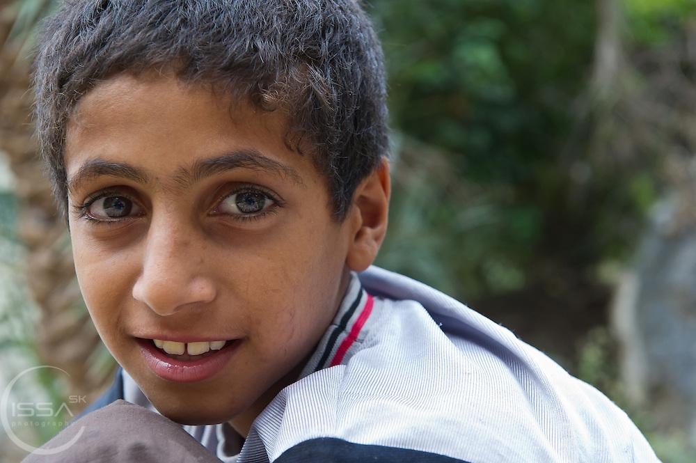 A boy from Meibam