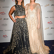Laura Pradelska (R) attends gala dinner and concert to raise money and awareness for the Melissa Bell Foundation and Style For Stroke Foundation. 14 October 2018.