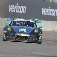 Detroit, MI - Jun 03, 2016:  The Team Seattle Alex Job Racing Porsche races through the turns at the Detroit Grand Prix at Belle Isle Park in Detroit, MI.