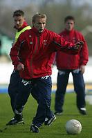 Fotball. Tippeligaen. 01.05.2002.<br /> Stabæk v Bryne 2-1.<br /> Roger Nilsen, Bryne.<br /> Foto: Morten Olsen, Digitalsport