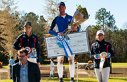 March 22, 2019 - Raeford, North Carolina, US - March 23, 2019 - Raeford, N.C., USA - WILL FAUDREE of the United States won first place riding CAELESTE, LIZ HALLIDAY-SHARPE of the United States placed second riding FLASH COOLEY, and SYDNEY CONLEY ELLIOTT of the United States placed third riding QC DIAMANTAIRE in the CCI-3S division at the sixth annual Cloud 11-Gavilan North LLC Carolina International CCI and Horse Trial, at Carolina Horse Park. The Carolina International CCI and Horse Trial is one of North AmericaÃ•s premier eventing competitions for national and international eventing combinations, hosting International competition at the CCI2*-S through CCI4*-S levels and National levels of Training through Advanced. (Credit Image: © Timothy L. Hale/ZUMA Wire)