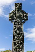 Traditional celtic cross on Isle of Iona in Scotland