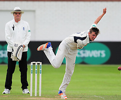 Harry Podmore of Middlesex bowls.  - Mandatory by-line: Alex Davidson/JMP - 12/07/2016 - CRICKET - Cooper Associates County Ground - Taunton, United Kingdom - Somerset v Middlesex - Day 3 - Specsavers County Championship Division One