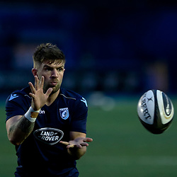 Lewis Jones of Cardiff Blues during the pre match warm up<br /> <br /> Photographer Simon King/Replay Images<br /> <br /> Guinness PRO14 Round 14 - Cardiff Blues v Connacht - Saturday 26th January 2019 - Cardiff Arms Park - Cardiff<br /> <br /> World Copyright © Replay Images . All rights reserved. info@replayimages.co.uk - http://replayimages.co.uk