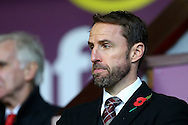 England interim manager Gareth Southgate looks on from his seat in the stands.  Premier League match, Burnley v Crystal Palace at Turf Moor in Burnley , Lancs on Saturday 5th November 2016.<br /> pic by Chris Stading, Andrew Orchard sports photography.