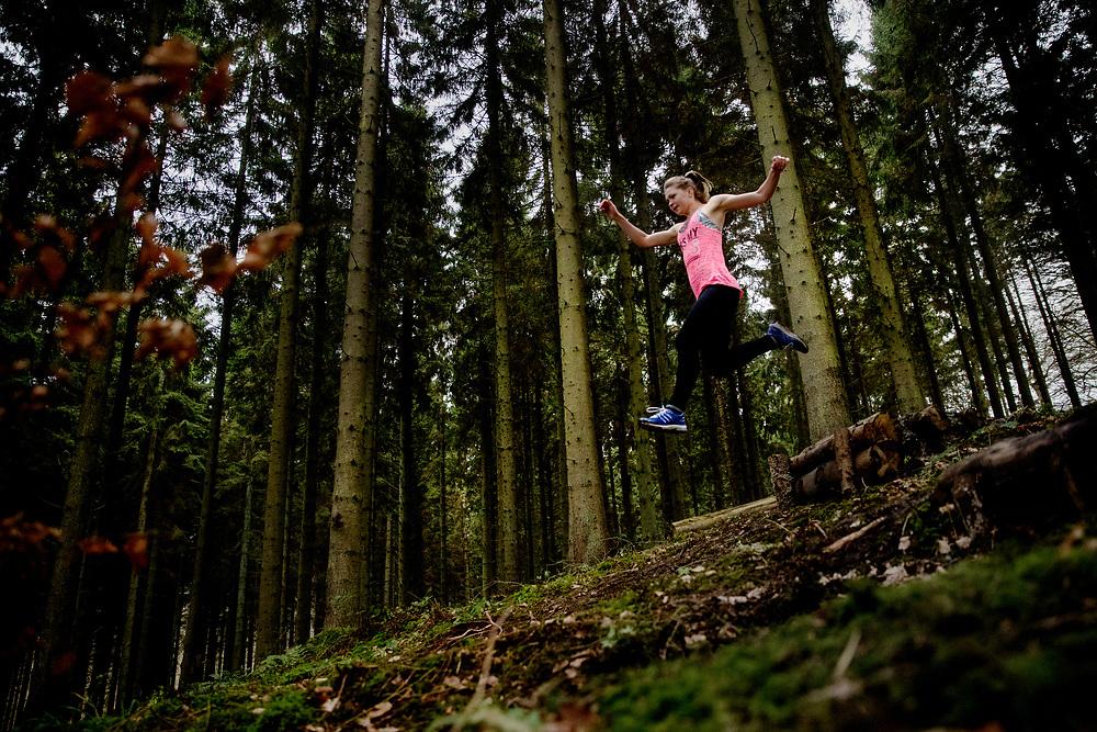 Løbetræning i skoven - trailløb