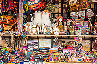 traditional handcraft souvenirs in the peruvian Andes at Cuzco Peru