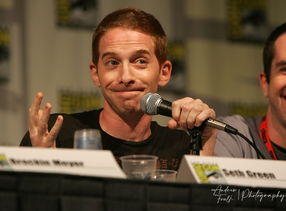 """Andrew Foulk/ Zuma Press.July 23, 2009, San Diego, California, USA. Seth Green Comic Con.  Actor, Seth Green, speaks to about the upcoming season of his """"Cartoon Network"""" show """"Robot Chicken"""" , during day one of the 40th annual San Diego International Comic Con."""