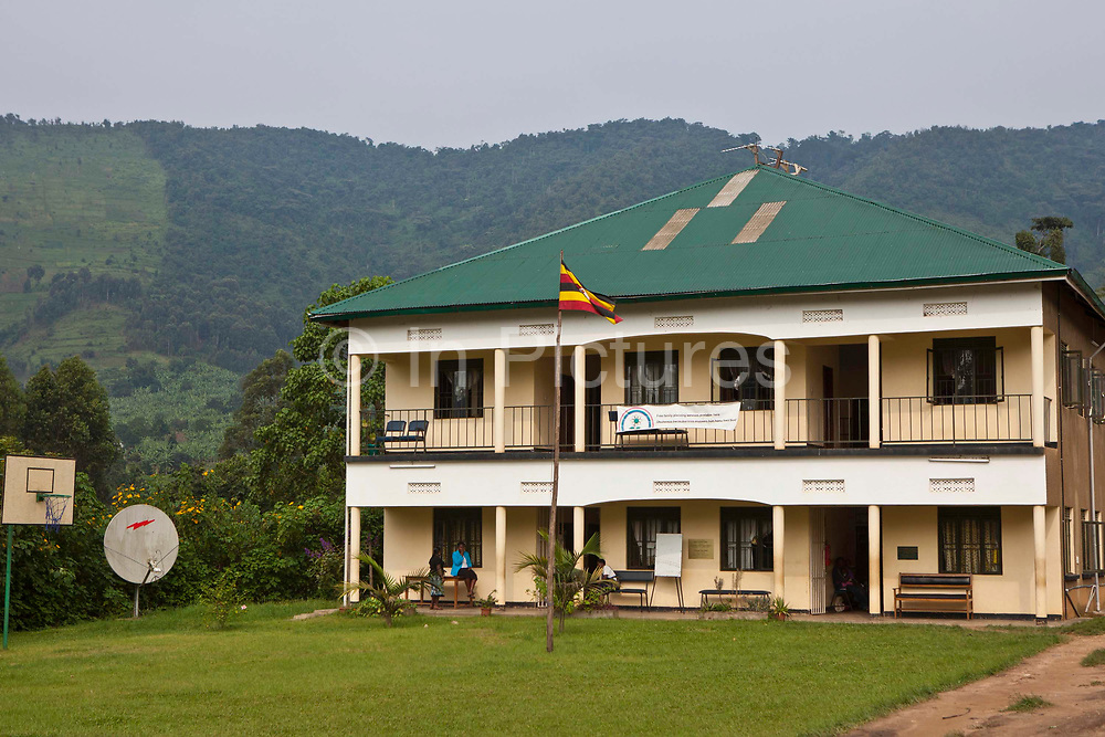 The Bwindi Community Hospital in Buhoma village on the edge of the Bwindi Impenetrable Forest in Western Uganda. It serves around 60,000 people from the surrounding area.