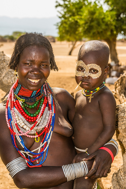 Arbore tribe mother and child, Omo Valley, Ethiopia.