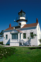 CA: Pacific Grove, California, Point Pinos lighthouse, 2005 .Image: captpinos201.Photo Copyright: Lee Foster, lee@fostertravel.com, www.fostertravel.com, (510) 549-2202..