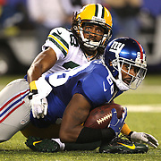 Hakeem Nicks, New York Giants, in action during the New York Giants Vs Green Bay Packers, NFL American Football match at MetLife Stadium, East Rutherford, New Jersey, USA. 17th November 2013. Photo Tim Clayton