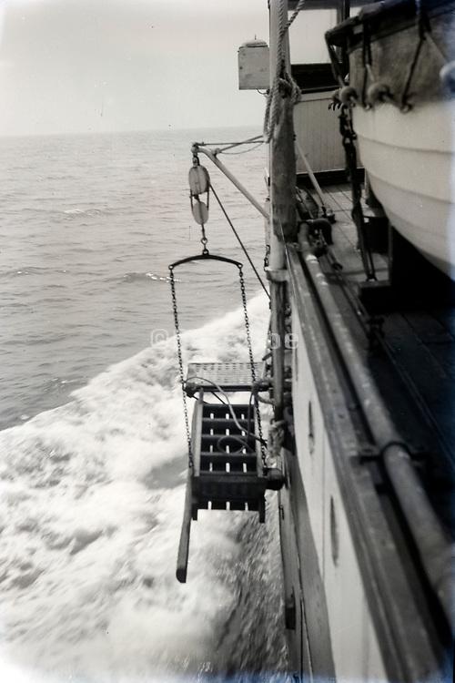 big ship on the open seas ca 1940s