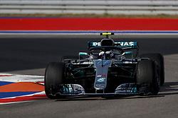 September 30, 2018 - Sochi, Russia - VALTTERI BOTTAS of Mercedes AMG Petronas Motorsport drives during the 2018 FIA Formula 1 Russian Grand Prix at Sochi Autodrom. (Credit Image: © James Gasperotti/ZUMA Wire)