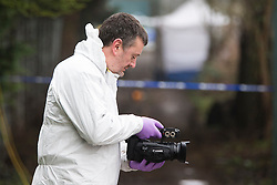 © Licensed to London News Pictures. 17/01/2017. Dinnington UK. Picture shows police forensic officer's at the scene in Dinnington this morning where the body of Leonne Weeks was found of Lordens Hill. Police have said they have concerns around the state of the body & the injuries & are treating her death as suspicious. Photo credit: Andrew McCaren/LNP